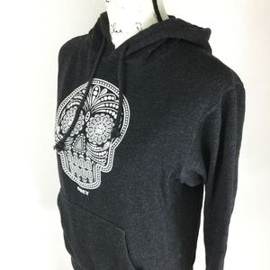 OBEY Women's Skull Drawstring Cotton Blend Sweater